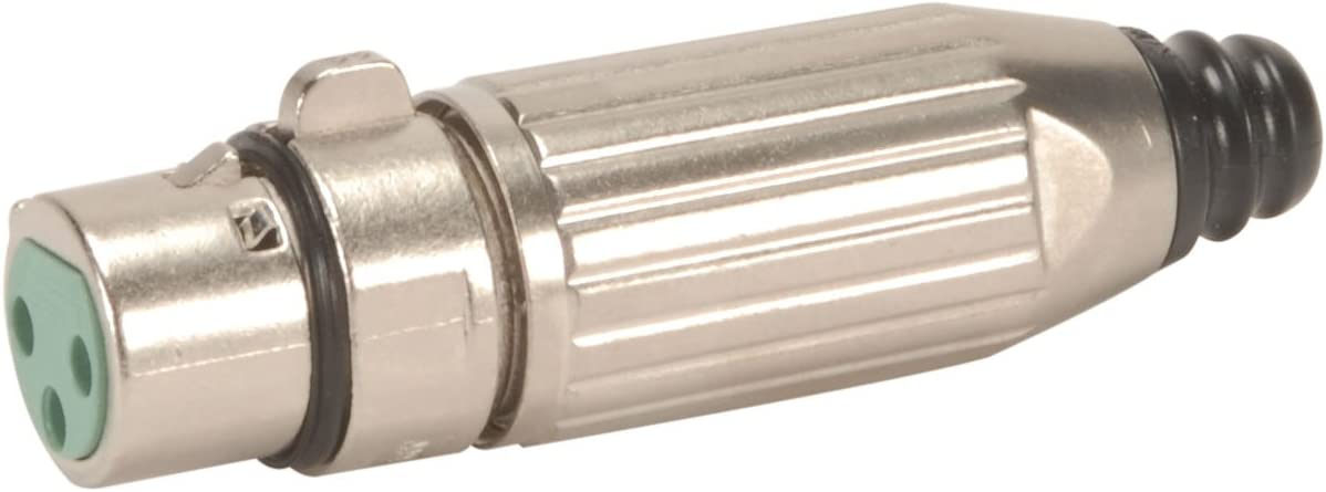 Switchcraft AAA3FBZ 3 Pin XLR Female Cable End Connector Silver Pins Black