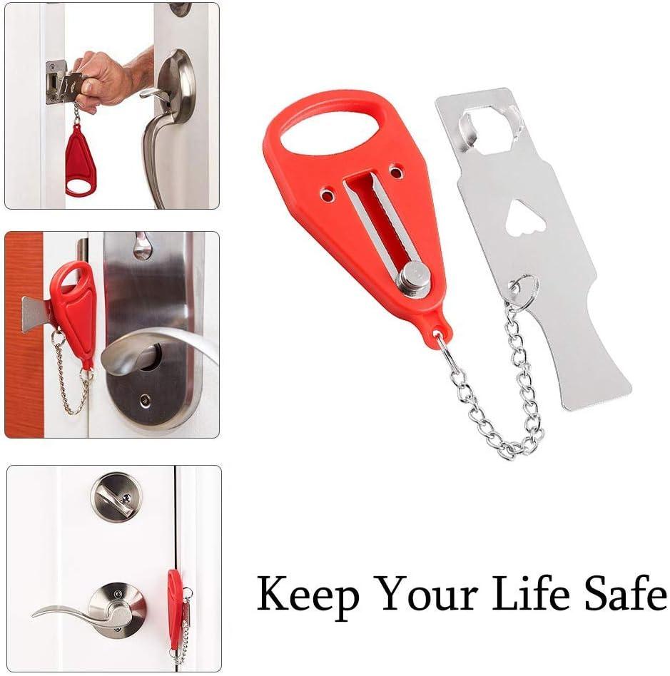 2 Packet Travel Lock School Lockdown Lock AirBNB Lock Portable Door Lock