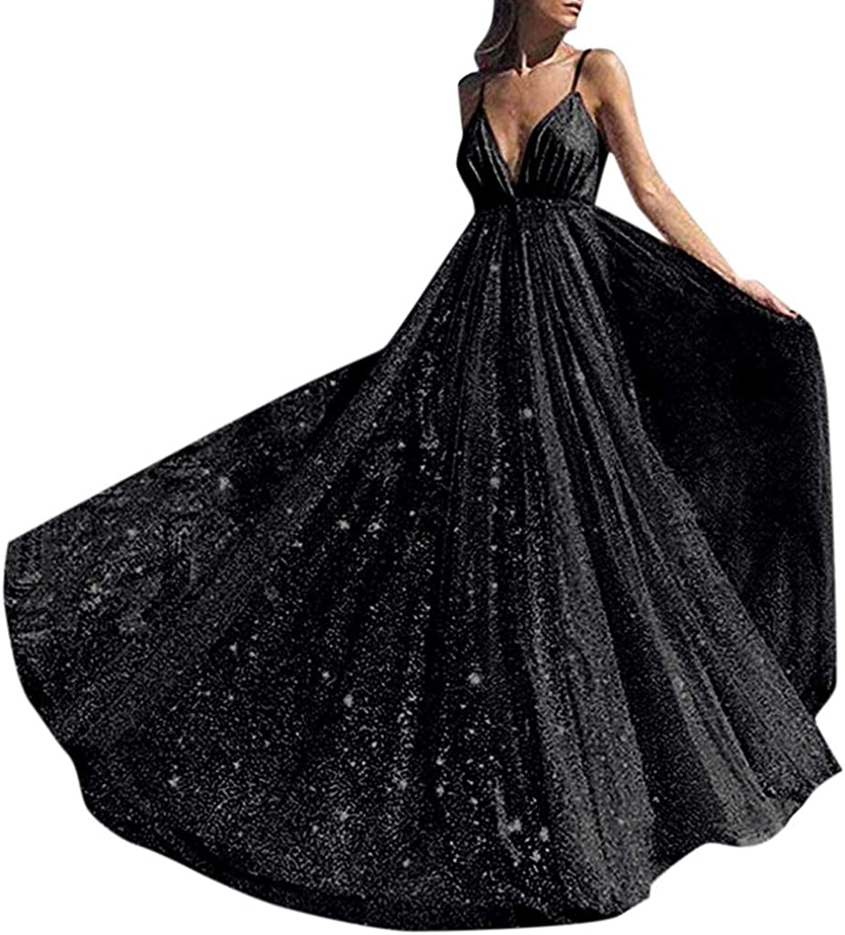 Formal Women Wedding Bridesmaid Long Evening Party Ball Prom Gown Cocktail Dress
