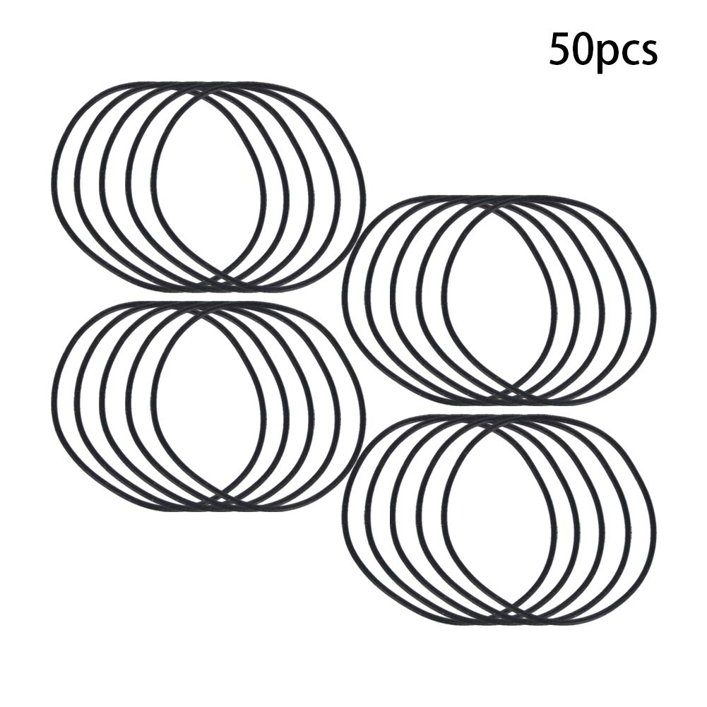 Othmro Buna-N O-Rings 9.5mm ID 12.5mm OD 1.5mm Width Oil Seal Washers Grommets Replacement Black Color 50Pcs