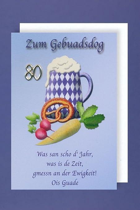Bayern Cumpleaños 80 tarjeta tarjeta de felicitación ...