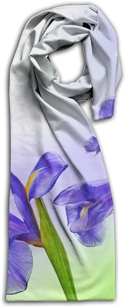 Unique Irises Closeup Three 3 Flowers Adult Unisex Double Side Printing Fashion Scarves 71 X 10