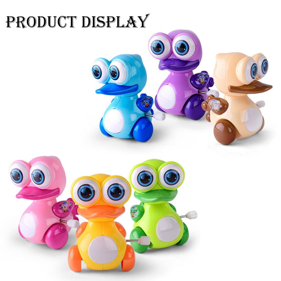 Gbell Clockwork Toy Baby Cute Duck,Dinosaur,Doll Model Toy Gift for Kids (A)
