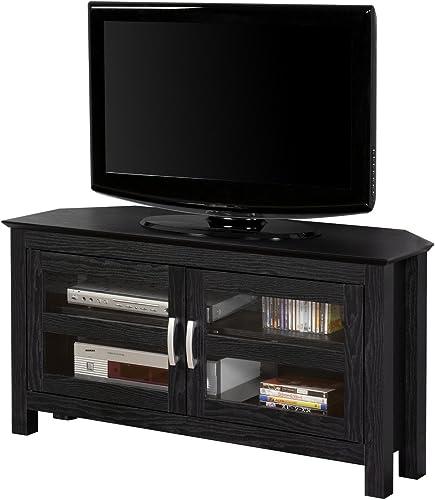 "FurnitureMaxx 44"" Wood Corner TV Media Stand Console"