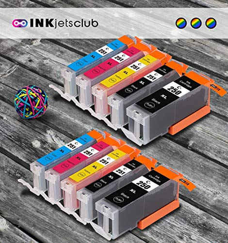 Price comparison product image 10 Pack Canon PGI250 XL & CLI251XL Combo Pack Compatible Printer Ink Cartridges - Works Great with Canon PIXMA MX922, MG5520, MG5420, MG7520 and More Printers