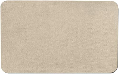 House, Home and More Skid-Resistant Carpet Indoor Area Rug Floor Mat – Ivory Cream – 2 Feet X 3 Feet