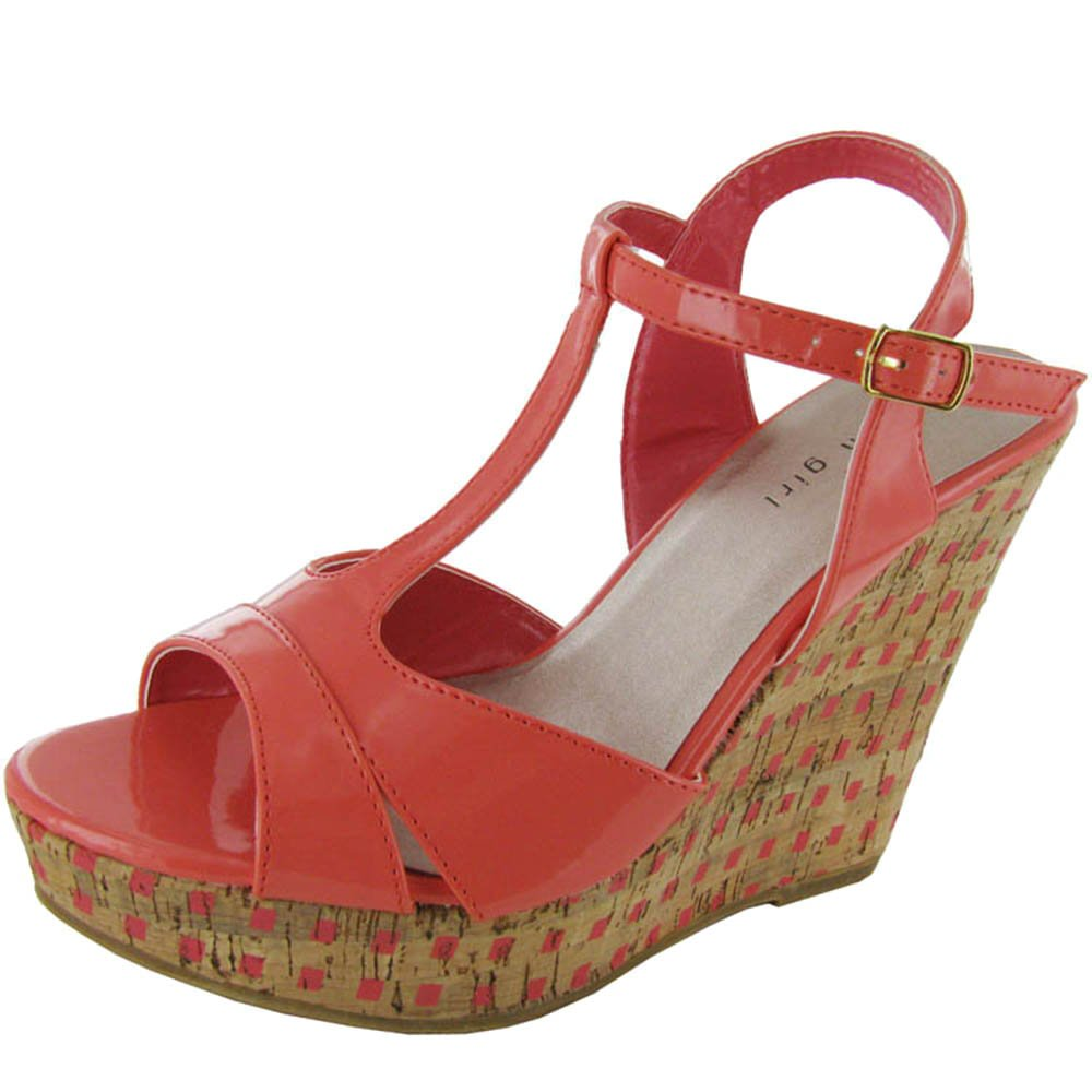 Madden Girl Womens 'Wickerrr' Wedge Shoe B009NWXG7A 6.5 B(M) US|Coral