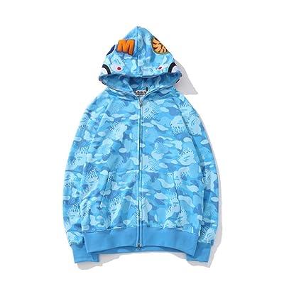 Fashion Boy BAPE A Bathing Ape Star Shark Long Sleeve Hooded Jacke HipHop Hoodie