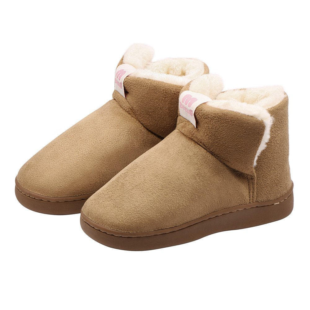 HomyWolf Kids Cotton House Slippers Toddlers Warm Ankle Slippers Boots for Indoor/Outdoor