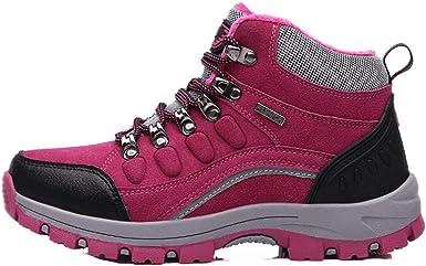 JCNHXD Zapatos de senderismo impermeables al aire libre para ...
