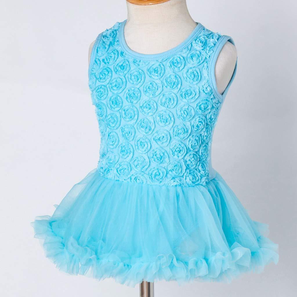 Stirnband Outfits Set Prinzessin Kleid Geschenk f/ür Kinder 2019 New Kid Tops WUSIKY Tutu Sommerkleid 2 ST/ÜCKE Kleinkind Baby M/ädchen Sleeveless Flower Dress