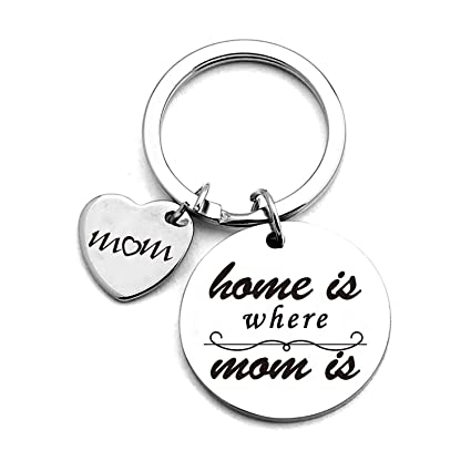 Amazon com: Mother Love Quotes Stainless Steel Key Chain