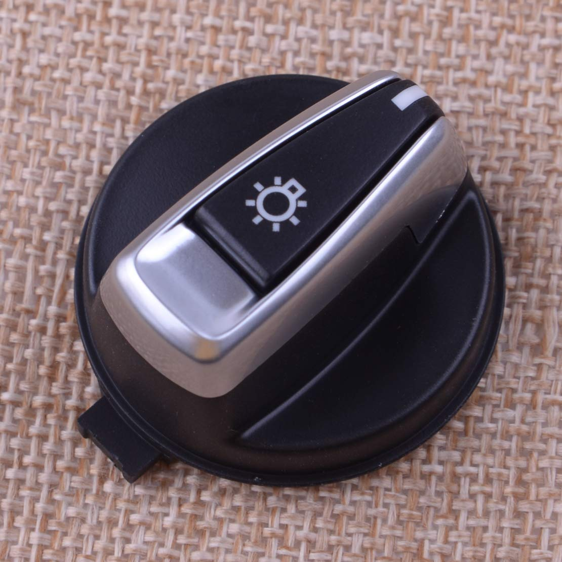 CITALL Chrome automatic headlight switch button Fit for BMW 1 Series