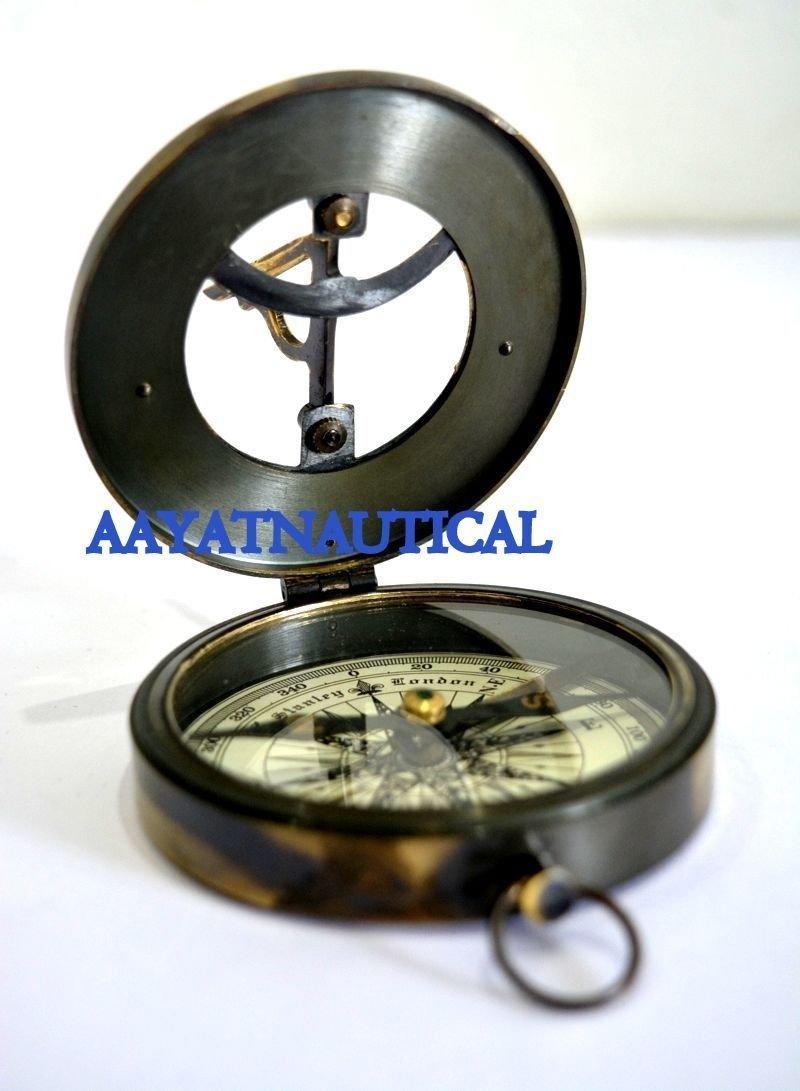 日時計コンパスHand Madeソリッド真鍮West LondonレプリカNice Item B073VG4QFH