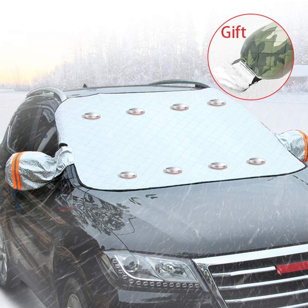 Frost Schnee Staub Sonne EIS STYLINGCAR Frontscheibenabdeckung Auto Windschutzscheibe Abdeckung Magnet Fixierung Wasserdicht Scheibenabdeckung Abdeckung f/ür Gegen UV-Schutz