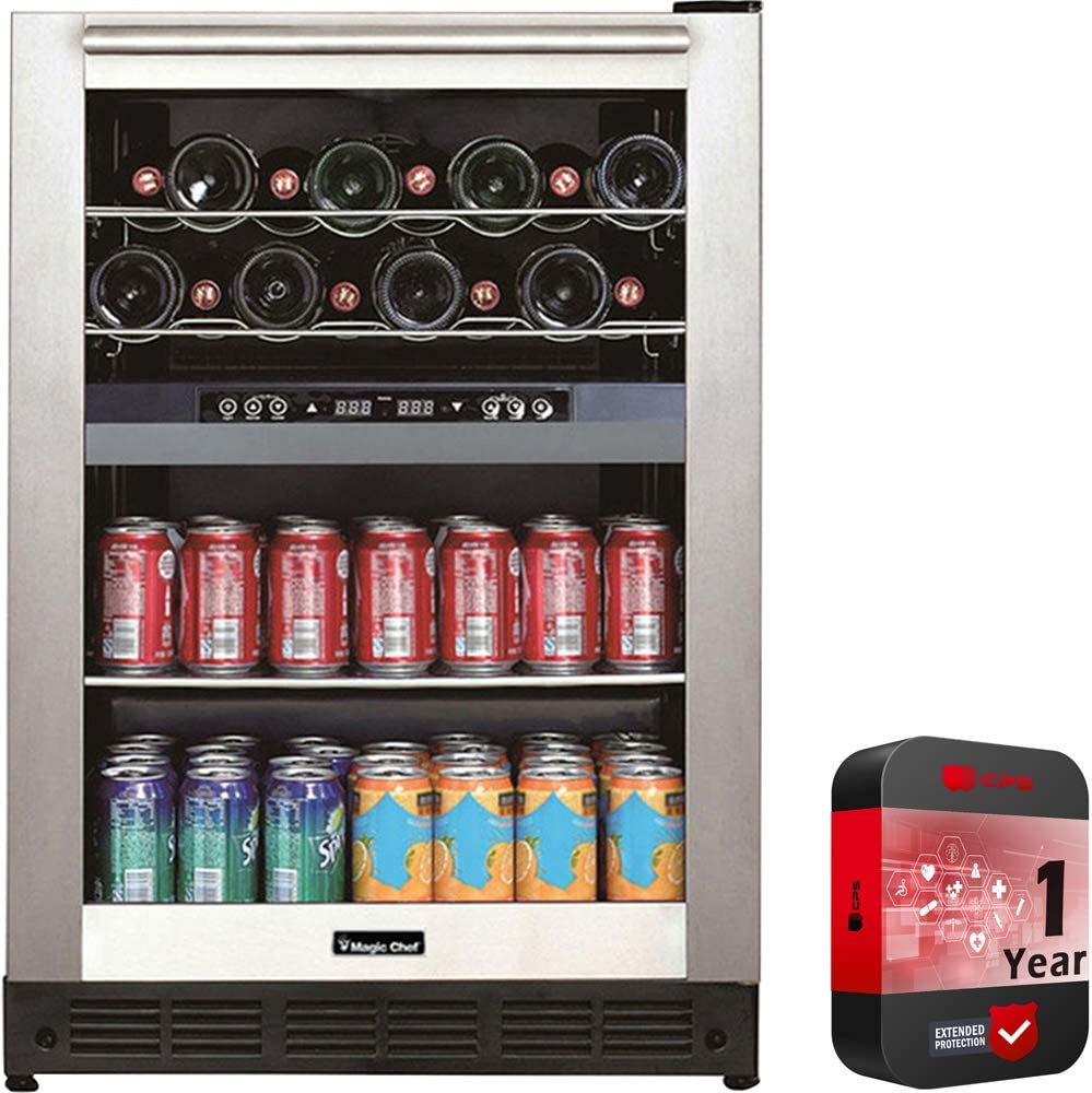 Magic Chef Dual Zone Built-In Wine and Beverage Cooler (BTWB530ST1) with 1 Year Extended WarrantyMagic Chef Dual Zone Built-In Wine and Beverage Cooler (BTWB530ST1) with 1 Year Extended Warranty