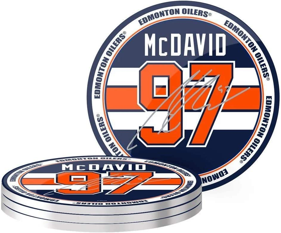 McDavid NHLPA 4pk Edmonton Oilers Coaster Set