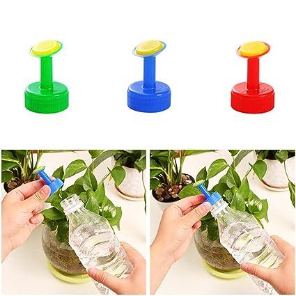 GEZICHTA Botella Top Waterers, 5 piezas Aspersor Cabeza para regar regar regadera boquilla de riego