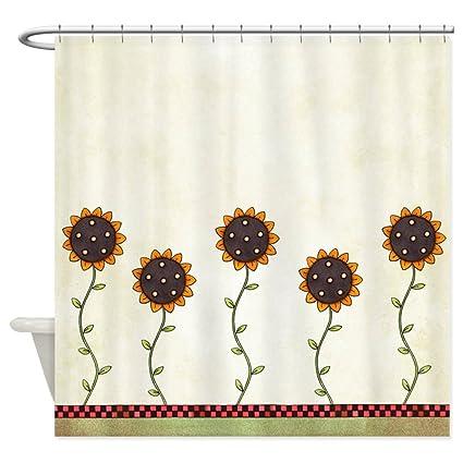Amazon CafePress Primitive Sunflowers Shower Curtain Decorative
