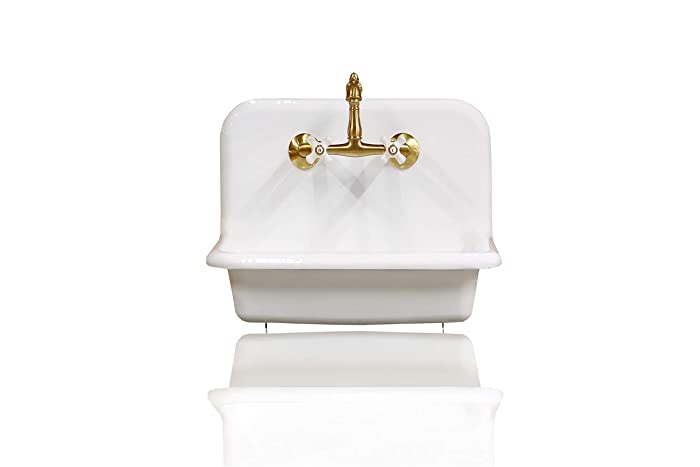 Amazon Com New 24 High Back White Farm Sink Cast Iron