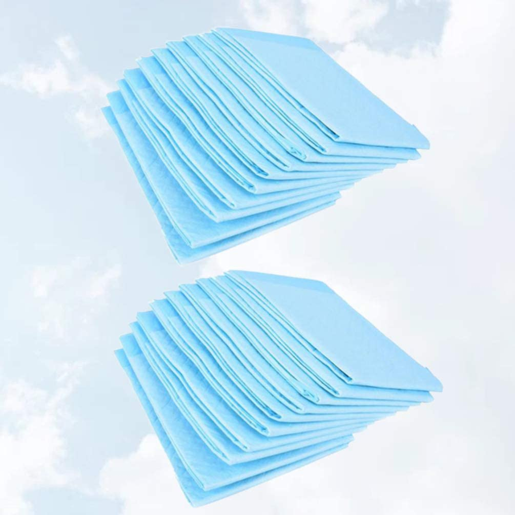 Healifty Adults Disposable Underpads Mat Waterproof Bed Mat Super Absorbent Protection for Adults 30Pcs 60x90cm