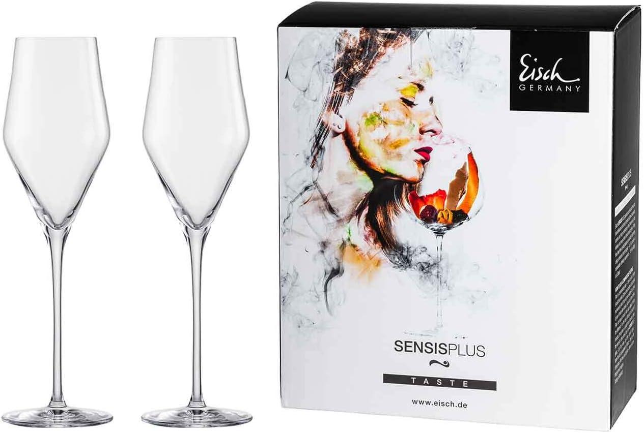 Champagner 518//7 2 Champagnergl/äser im Geschenkkarton Eisch Sky Sensis Plus 25184070