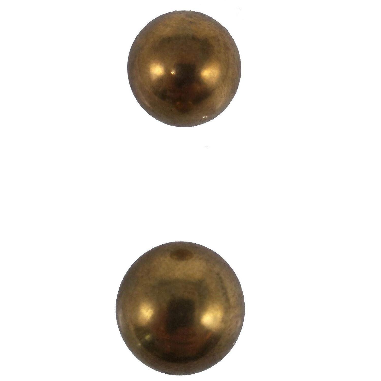 Pack of 2 Balls 1 25.4mm Solid Brass Bearing Balls