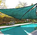 DLZY COOL Shade Sail porch shades knitting Sun Shade Sail garden sails 13' 13' 13' (green)