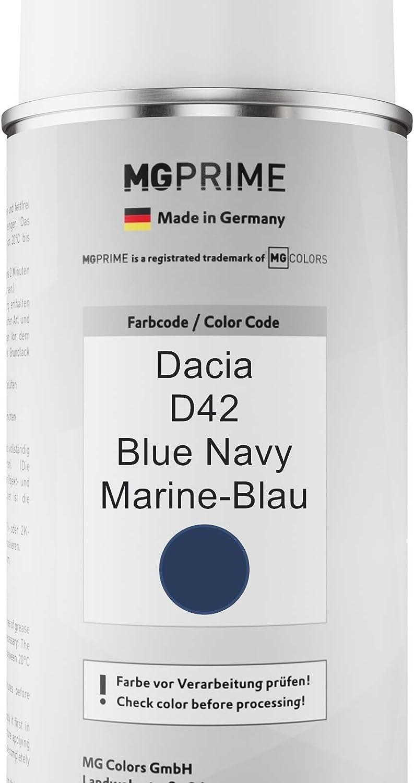 Mg Prime Autolack Sprühdosen Set Für Dacia D42 Blue Navy Marine Blau Basislack Klarlack Spraydose 400ml Auto
