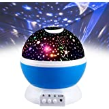 Friday Night Light Moon Star Rotating Projector for Kids Babies - Best Gifts