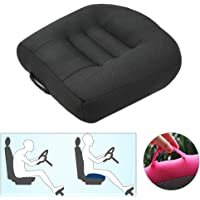 Portable Car Seat Cushion Pad for Car Driver Seat Office Chair, Breathable Mesh Car Booster Seat Cushion Heightening Height, Increase The Field by 4.7/3.5/2.3 inch