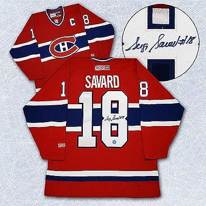b0f92ac4b Serge Savard Montreal Canadiens Autographed Hockey Jersey - Signed Hockey  Jerseys
