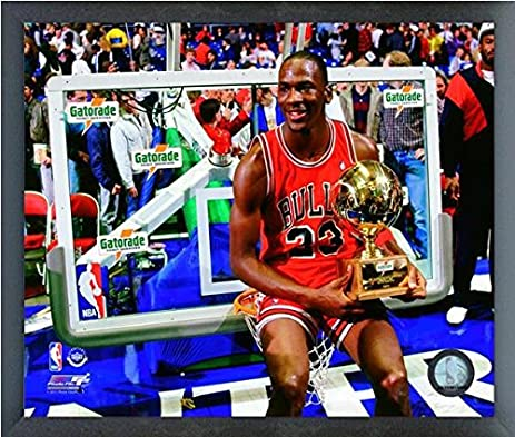 Michael Jordan Chicago Bulls NBA Finals Trophy Photo Size 12quot X 15quot