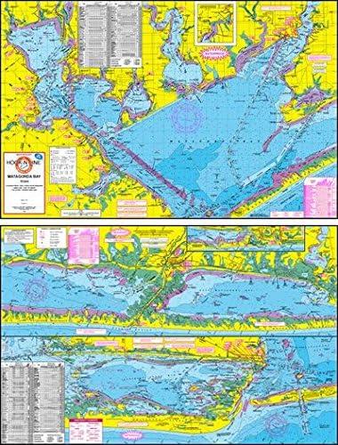 Mapa topográfico de pesca de Matagorda bahía – con GPS puntos ...