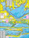 Topographical Fishing Map of Matagorda Bay - With GPS Hotspots