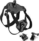 BPS Action Camera Dog Harness Chest Belt Mount for Gopro Hero 1 2 3 3+ 4 5 Session and SJCAM SJ4000 SJ5000X / Apeman / AKASO / Campark / Crosstour / JEEMAK / Victure Sports Camera