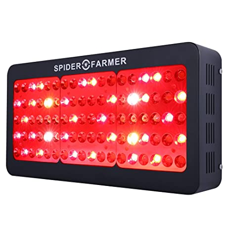spider farmer dimmable series 450w led grow light full spectrum with refector ir dual