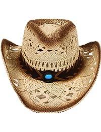 db68d4083b43f Men s   Women s Western Style Cowboy Cowgirl Straw Hat