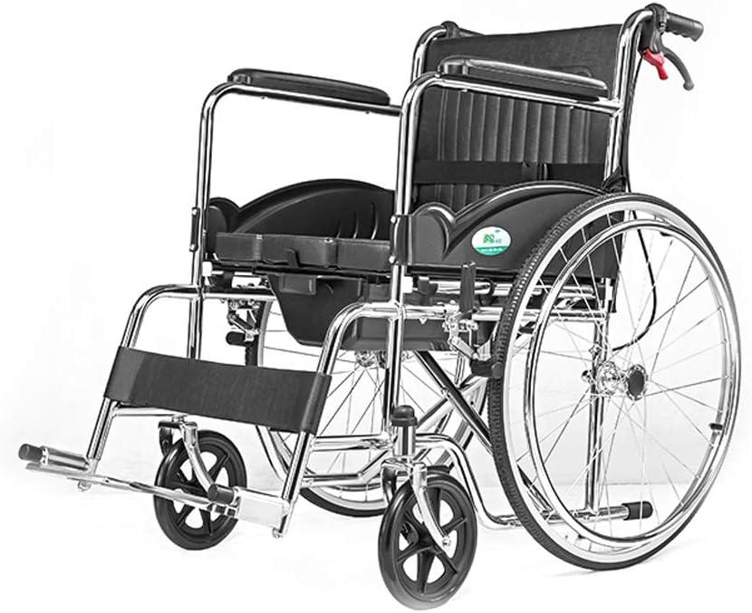 Jia He Silla de Ruedas Silla de Ruedas, Personas Mayores con discapacidad, Manual Manual Silla de Ruedas de Acero, Sentado y Plegable Cuidado portátil