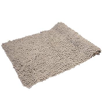 Luxus Glitzer 100 Baumwolle Chenille Teppich Badteppich Silber Grau