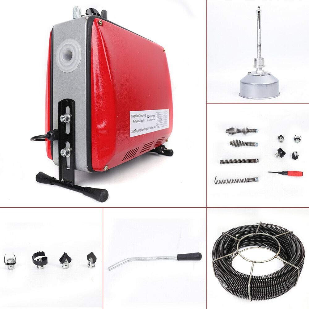 Pipe Cleaner,110V 3/4''-6''Ø Pipe Drain Cleaner Electric Spiral Drain Cleaning Machine Sewer Sewage Drain Cleaning Machine by DONSU