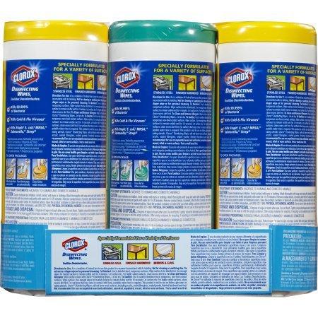 Clorox desinfección toallitas de limpieza Value Pack, Crisp limón fragancia y aroma fresco - -105 toallitas húmedas: Amazon.es: Hogar