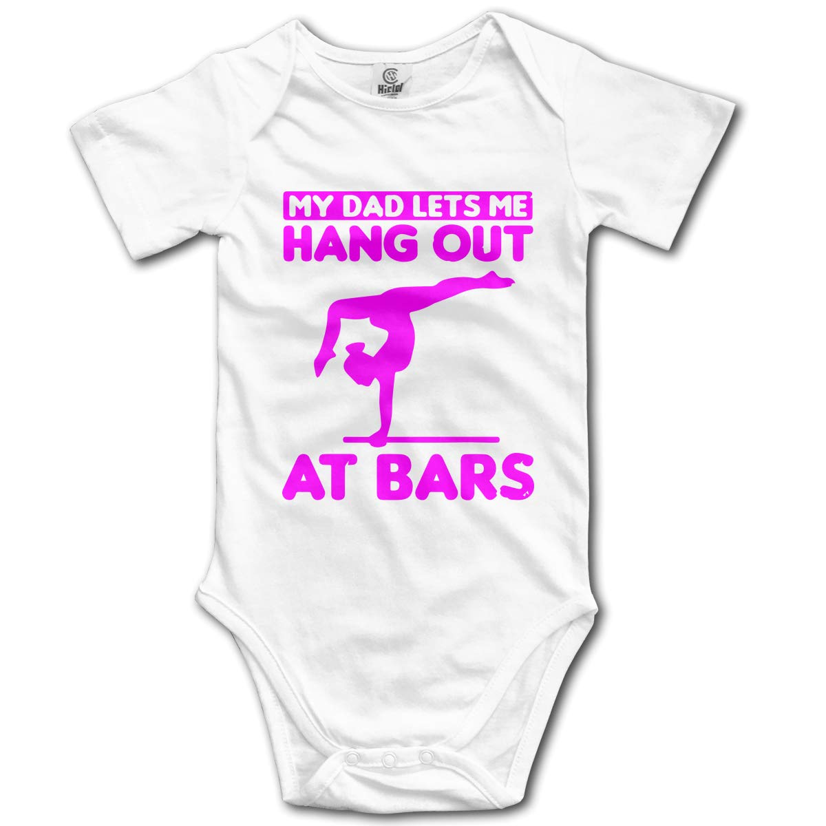 Lets Me Hang Out at Bars Infant Baby Boys Girls Short Sleeve Romper Pajamas 0-24 Months