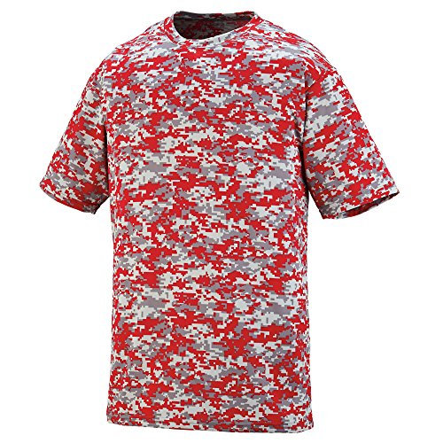 Augusta Sportswear Digi Camo Wicking T-Shirt, Medium, Red Digi (Red Digi Camo)