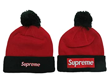 c5e403b9821 ... usa supreme beanie hats caps red with white logo b0f69 6b79d ...