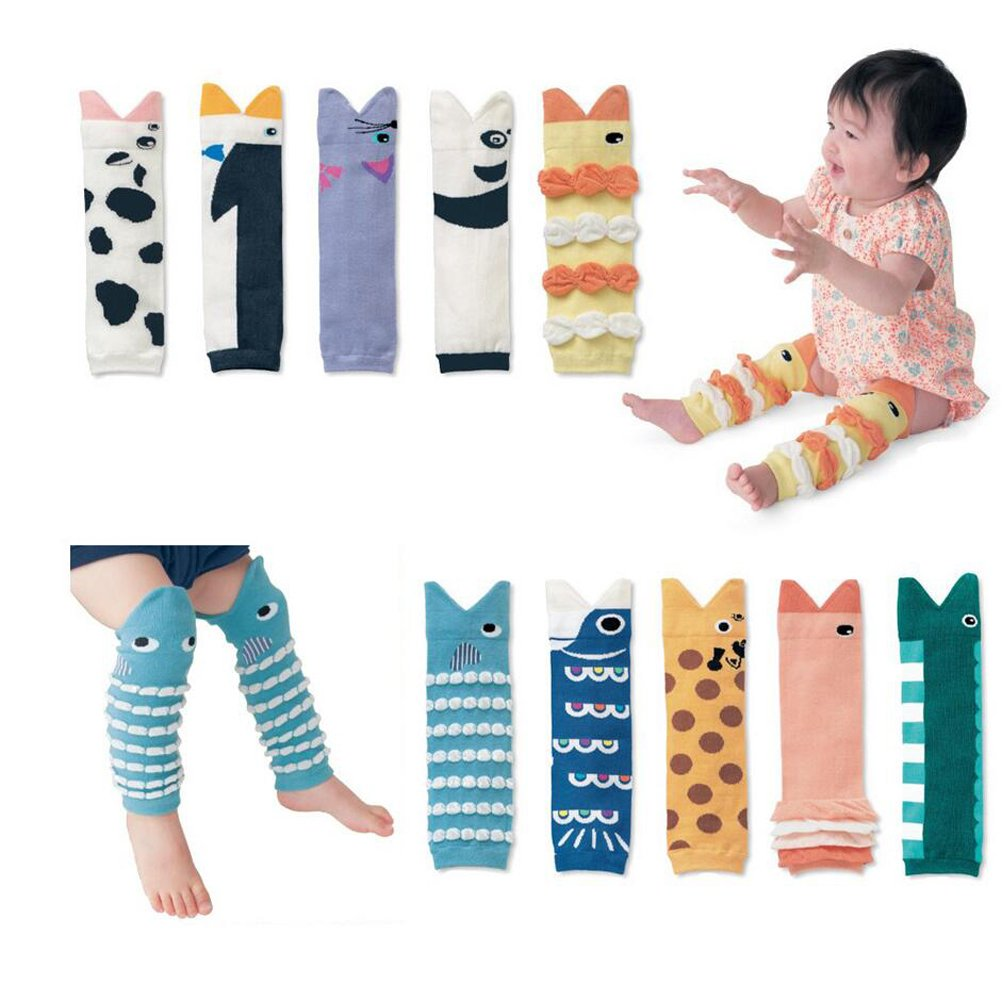 10 Pack Baby Kid Toddler Leg Sleeve - 3D Shark Mouth Knee Socks Protector Warmer by Kedera