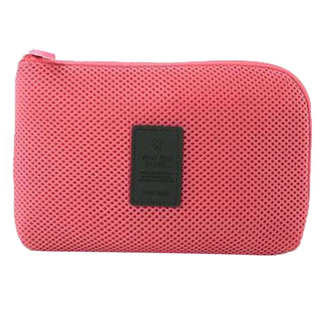 Women'S Wallet Portable Travel Headset Line Cosmetic Bag Storage Bag Coin Bag
