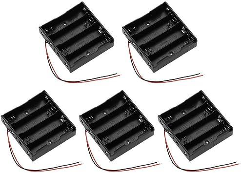 Akozon 5pcs Batería Plana Caso Caja de Almacenamiento de la ...
