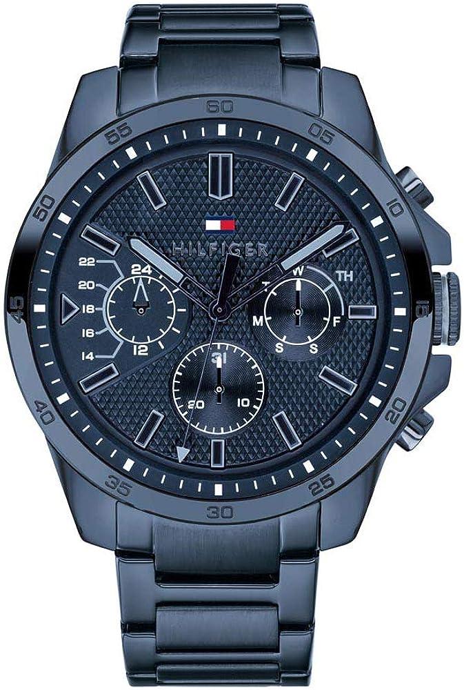 Tommy Hilfiger Reloj Multiesfera para Hombre de Cuarzo con Correa en Acero Inoxidable 1791560