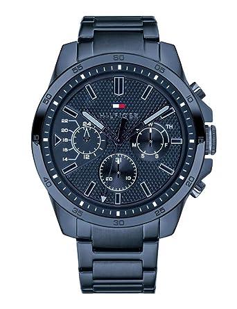 Tommy Hilfiger Reloj Multiesfera para Hombre de Cuarzo con Correa en Acero Inoxidable 1791560: Amazon.es: Relojes